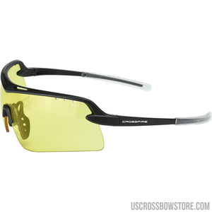 Crossfire Doubleshot Premium Shooting Glasses Amber-Black Powder-US Crossbow & Archery Store