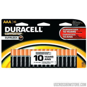 Duracell Coppertop Batteries Aaa 16 Pk.-Duracell-US Crossbow & Archery Store