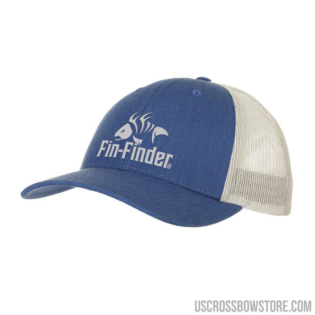 Fin Finder Logo Hat Heathered Royal-light Grey-Hunting Clothing & Apparel-US Crossbow & Archery Store