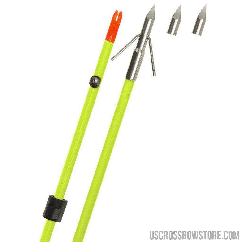 Fin Finder Raider Pro Bowfishing Arrow Flo Green W- Riptide Point-Fin-finder-US Crossbow & Archery Store