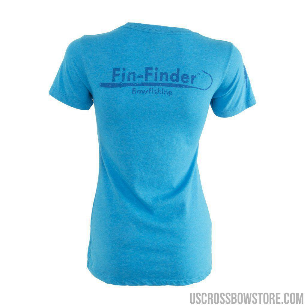 Fin-finder Women's Gaff Tee Blue Medium-US Crossbow & Archery Store
