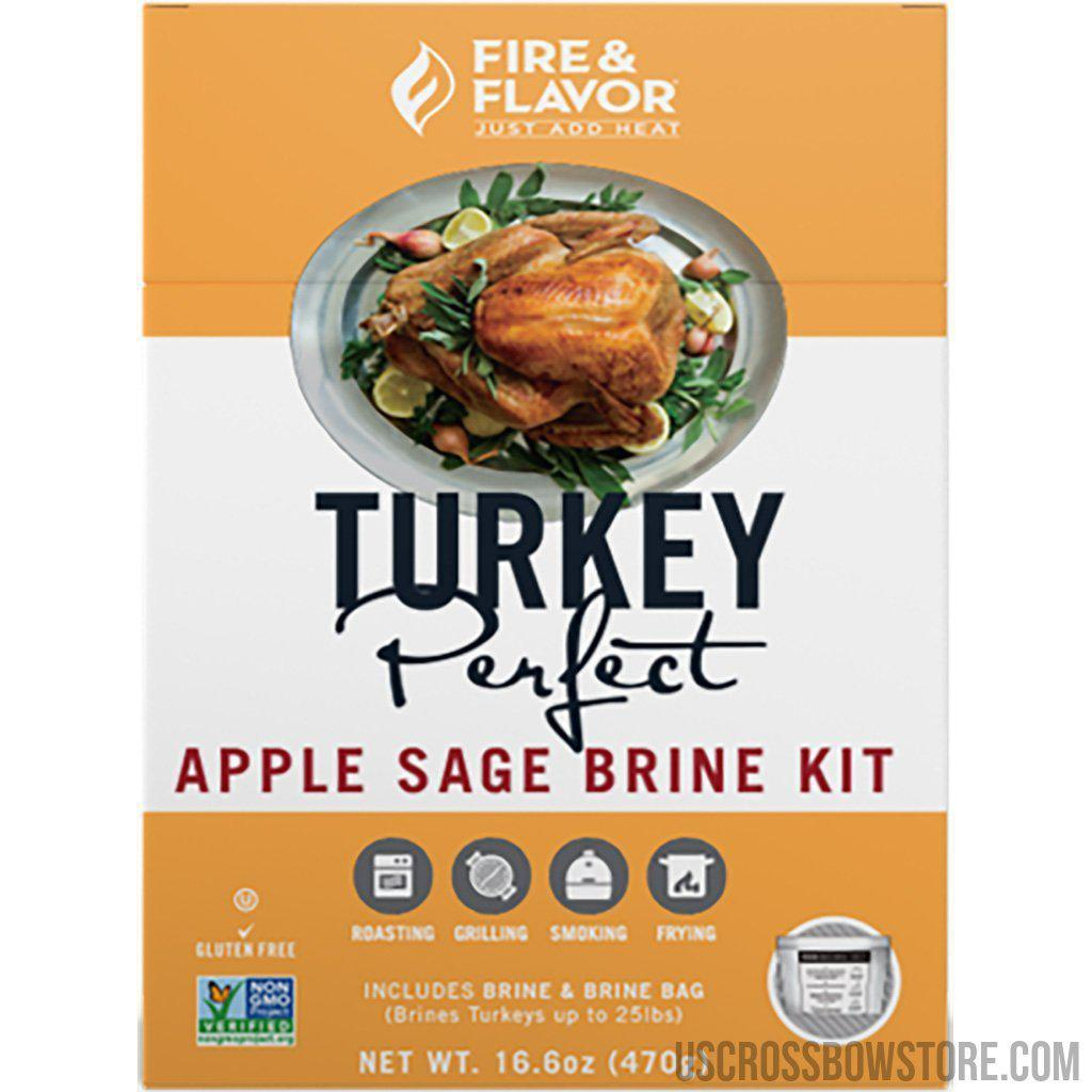 Fire And Flavor Turkey Perfect Brine Kit Apple Sage 2 Pk.-Fire And Flavor-US Crossbow & Archery Store
