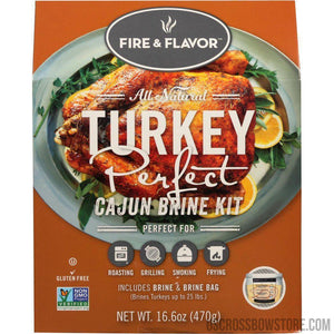 Fire And Flavor Turkey Perfect Brine Kit Cajun 2 Pk.-Food & Gifts-US Crossbow & Archery Store