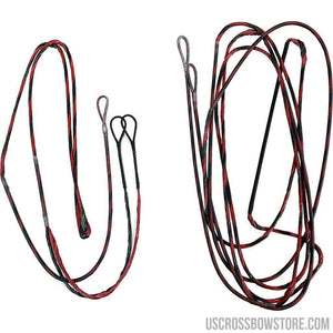 Firststring Genesis String And Cable Set Red- Black-Archery Products-US Crossbow & Archery Store