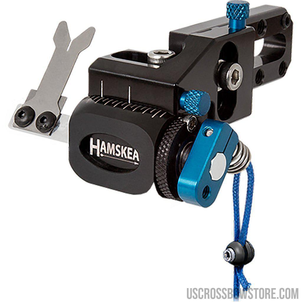 Hamskea Hybrid Target Pro Rest Micro Tune Blue Lh-Archery Products-US Crossbow & Archery Store