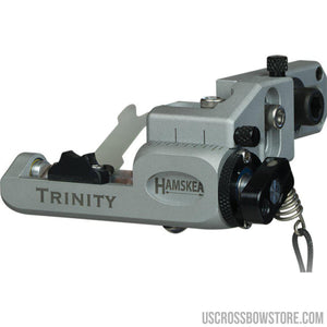 Hamskea Trinity Target Rest Micro Tune Silver Lh-Archery Products-US Crossbow & Archery Store