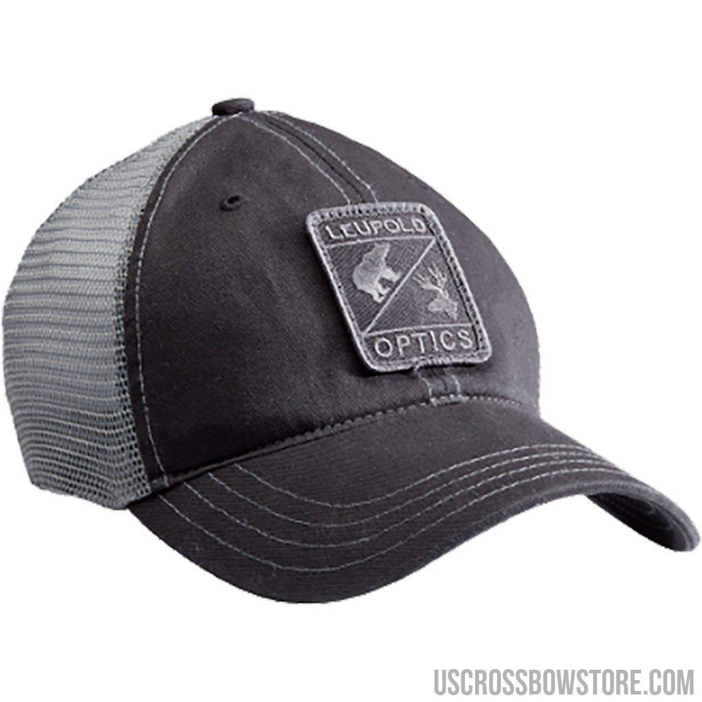 Leupold Optics Soft Trucker Hat Black And Grey-Leupold-US Crossbow & Archery Store