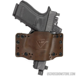 Limbsaver Cross-tech Holster Dark Leather Clip On-Black Powder-US Crossbow & Archery Store
