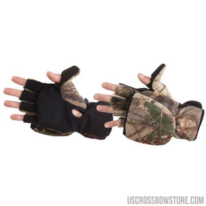 Manzella Bowhunter Convertible Glove-mitten Realtree Xtra X-large-Hunting Clothing & Apparel-US Crossbow & Archery Store