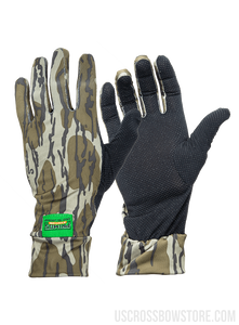 MOSSY OAK BOTTOMLAND STRETCH-FIT CAMO GLOVES-US Crossbow & Archery Store