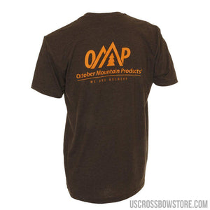 October Mountain Logo Tee Espresso 2x-large-Hunting Clothing & Apparel-US Crossbow & Archery Store