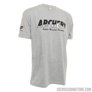 October Mountain Products Archery T-shirt Grey Medium-Hunting Clothing & Apparel-US Crossbow & Archery Store