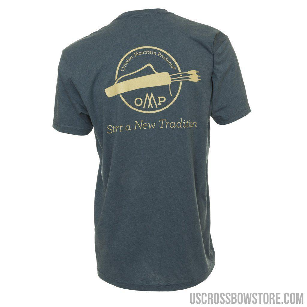 October Mountain Tradition Tee Indigo 2x-large-October Mountain-US Crossbow & Archery Store