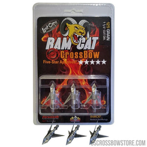 Ramcat Crossbow Broadheads 125 Gr. 3 Pk.-Crossbow Accessories-US Crossbow & Archery Store