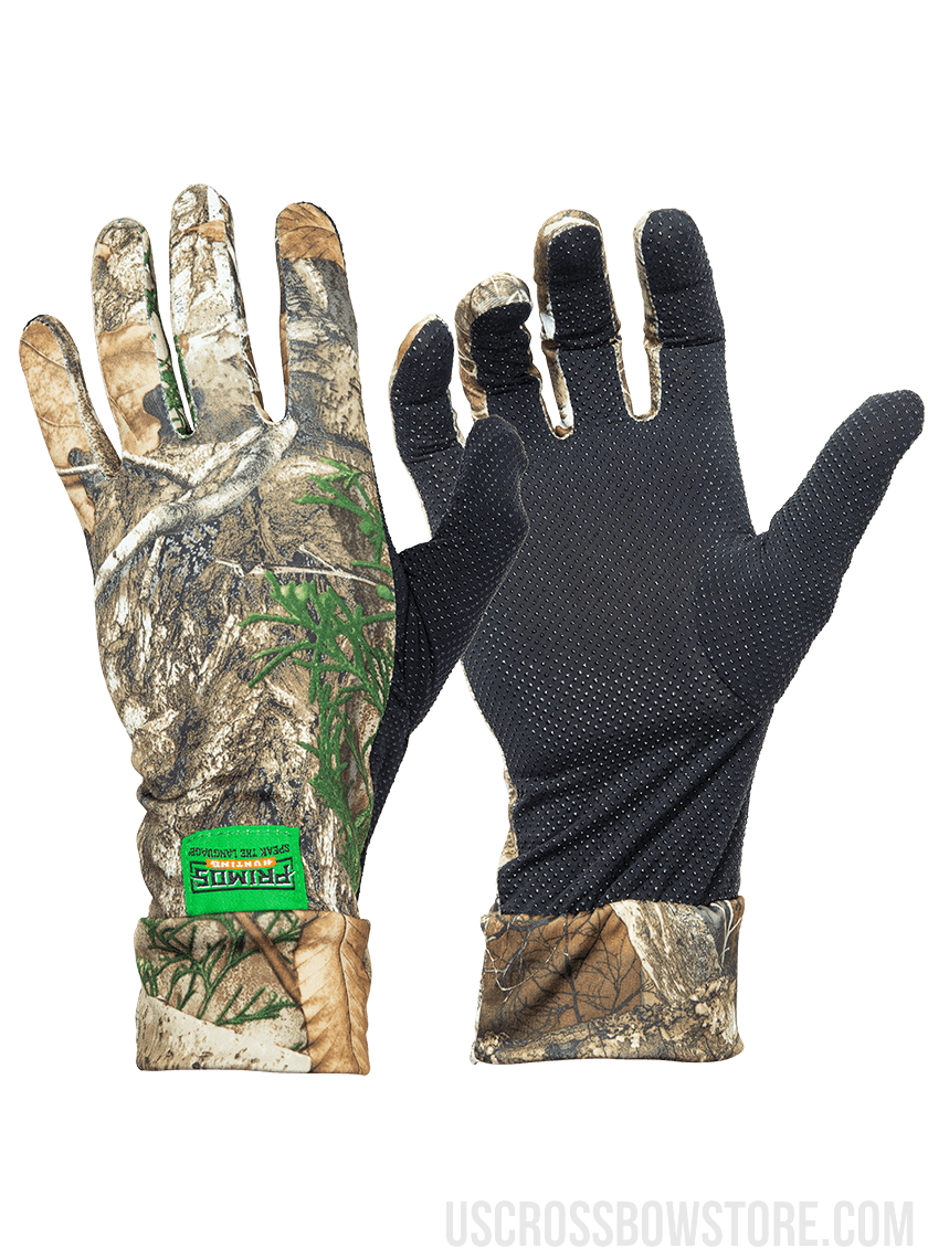 Realtree Edge Stretch-Fit Camo Gloves-US Crossbow & Archery Store