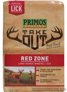 TAKE OUT RED ZONE MINERAL LICK 4 LB BLOCK-US Crossbow & Archery Store