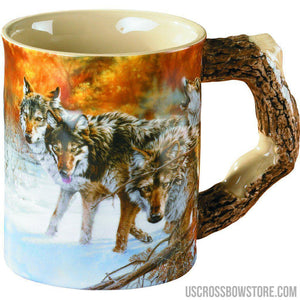 Wild Wings Sculpted Mug Body Language Wolves-Wild Wings-US Crossbow & Archery Store