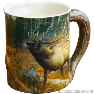 Wild Wings Sculpted Mug Master Of Intimidation Elk-Wild Wings-US Crossbow & Archery Store