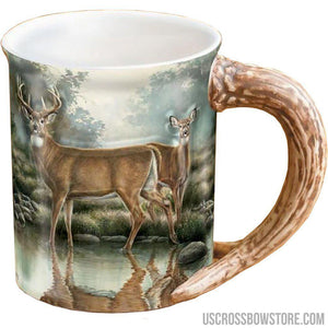 Wild Wings Sculpted Mug Tranquil Waters Whitetail Deer-Wild Wings-US Crossbow & Archery Store
