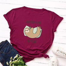 Load image into Gallery viewer, Funny Sleepy Sloth Women T-Shirt