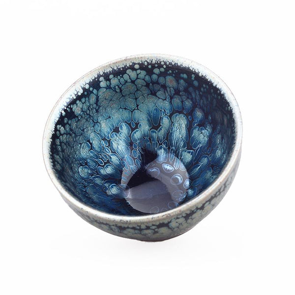 Peacock Tea Cup Tenmokus