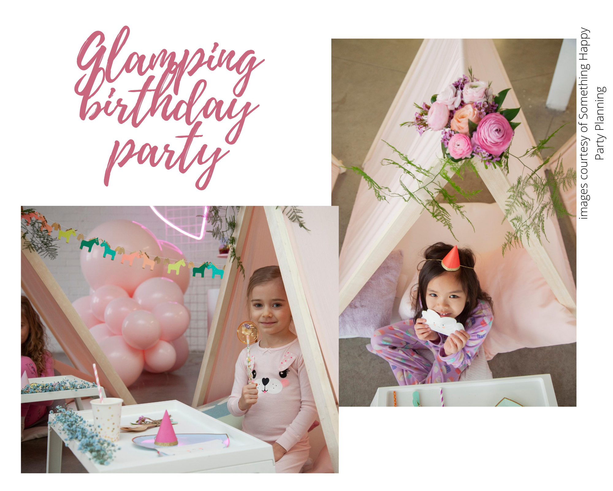 glamping birthday part pretty pink florals periwinkle Flowers Toronto florist events