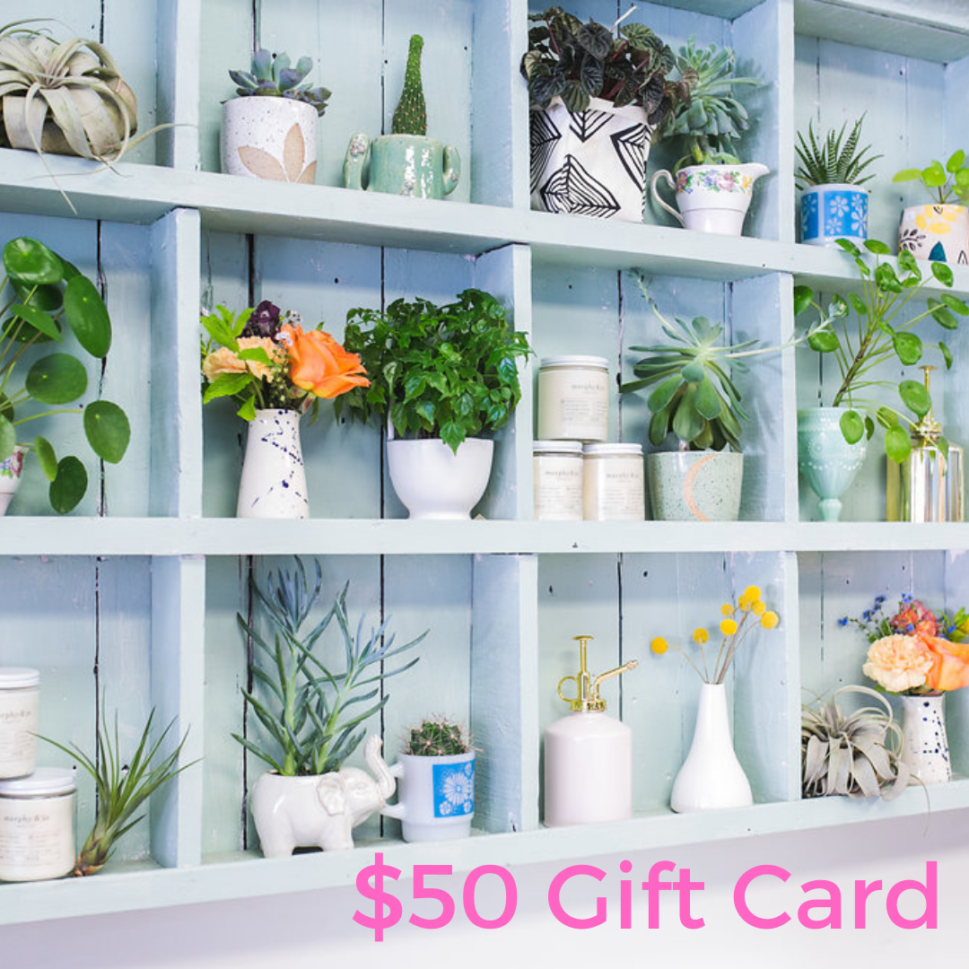 Periwinkle Flowers Gift Card