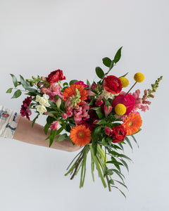 Seasonal Handtied Bouquet-Colourful