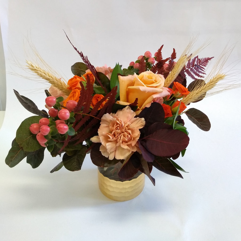 Thanksgiving vase flowers table centerpiece delivery toronto midtown rosedale leaside north toronto