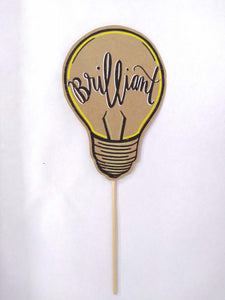 "Posecard- ""brilliant"" lightbulb"