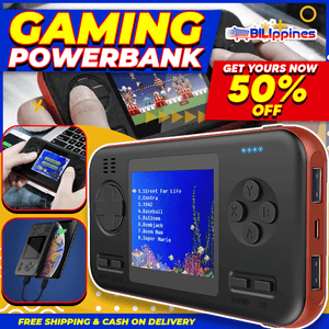 2 IN 1 RETRO GAMEBOY W/ POWER BANK (BUILT-IN 416 GAMES)