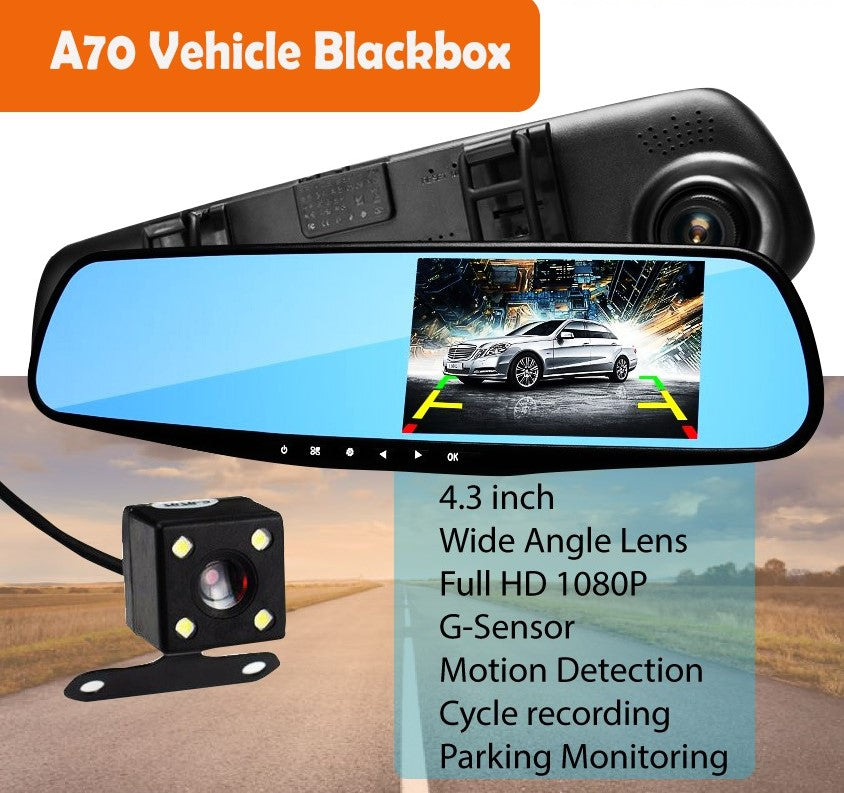 Dual Lens Front and Back DashCam