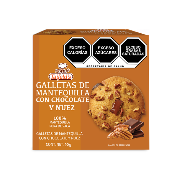 Galletas de Mantequilla con Chocolate y Nuez