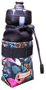 Navy Rose Bottle Bag