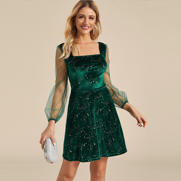 Female Dress Green