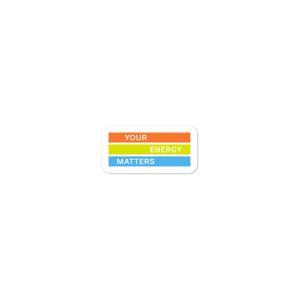 Your Energy Matters - Color Bars - Bubble-free stickers