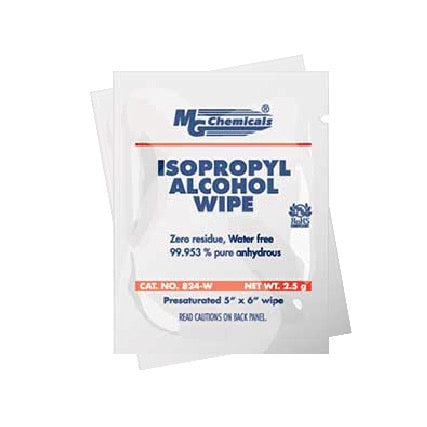 20 x MG 99.99% Isopropyl Alcohol Wipes 25 pack (individual)