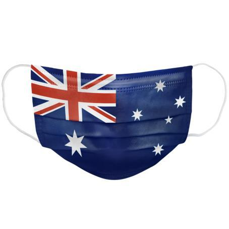 Australian Made Printed Level 2 Disposable Face Mask - 10 individually wrapped pcs