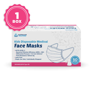 Australian Health 888 Level 2 Children Disposable Face Mask - Earloop - Pack of 50