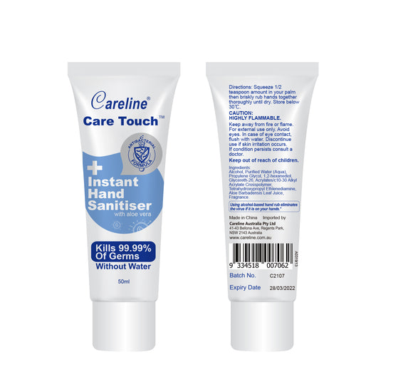 96 x Care Touch Hand Sanitiser 50ml