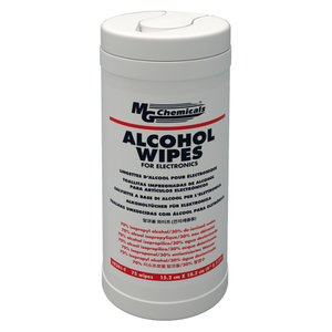 24 x MG Chemicals Multi-purpose Alcohol Wipes Pop Up Tub