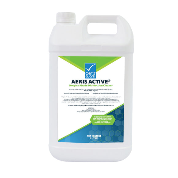 3 x Aeris Active Hospital Grade Disinfectant Cleaner 5L