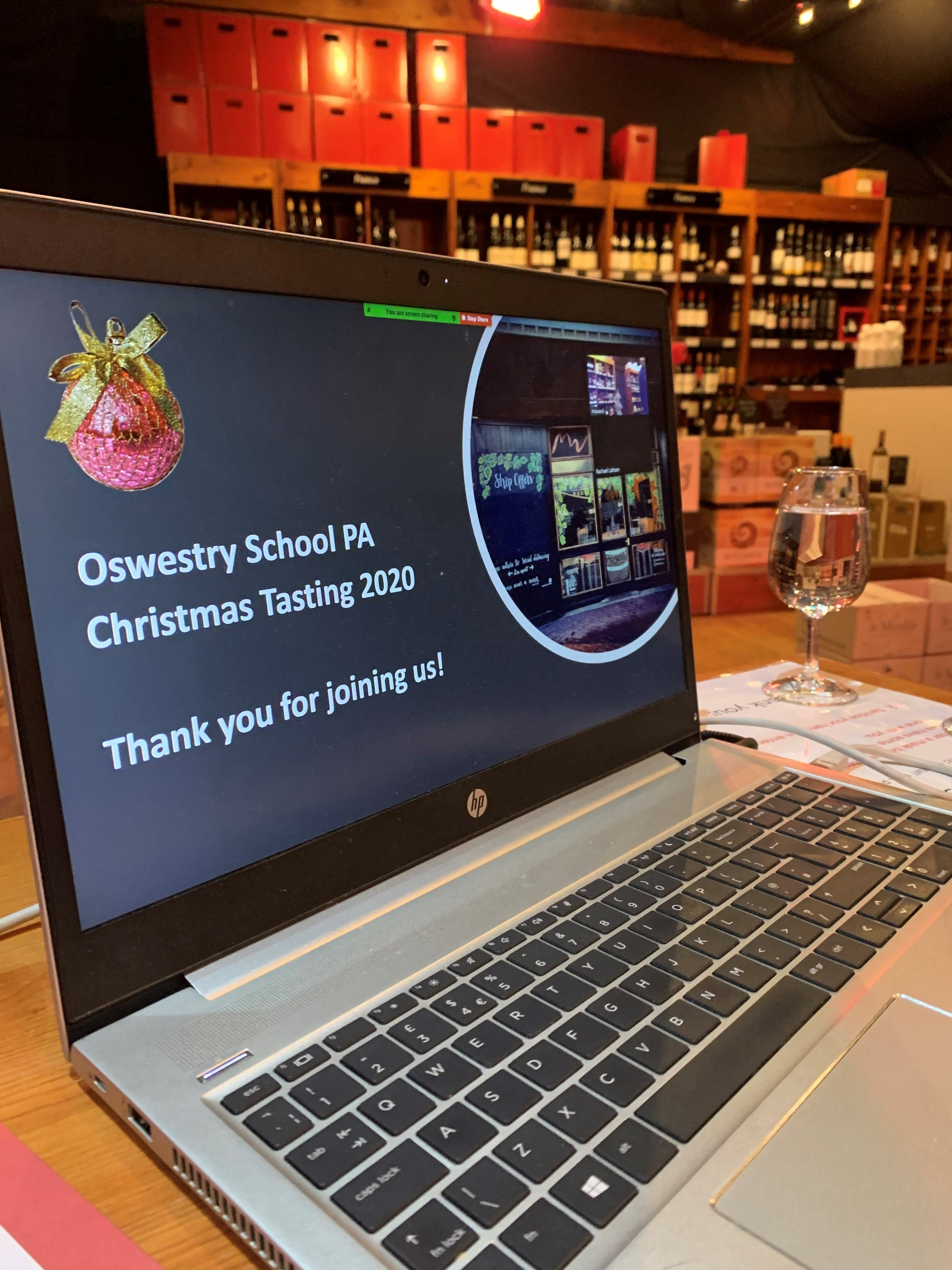 A great virtual tasting with Oswestry School PA