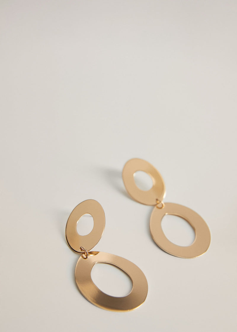 Circular pendant earrings