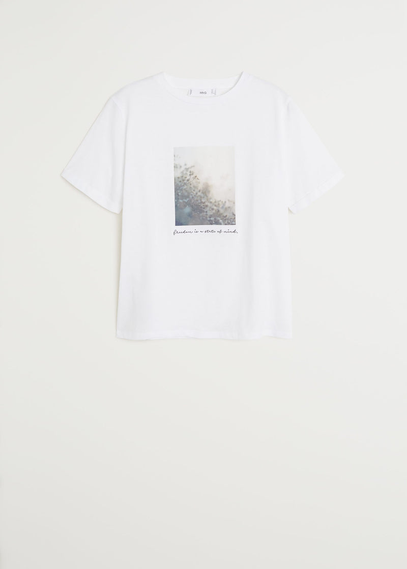 Organic printed cotton t-shirt