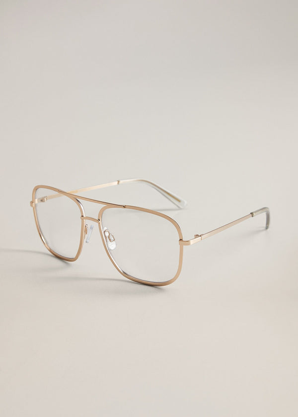 Metallic frame glasses