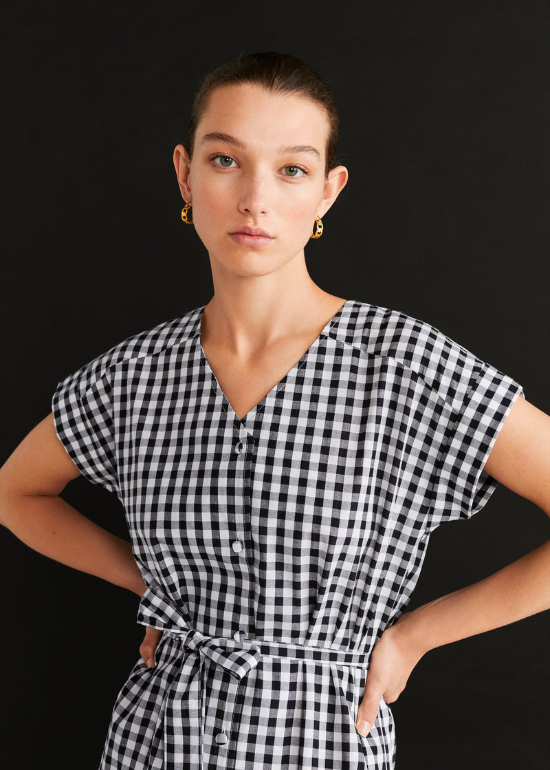 Mango Vichy check dress for Women - Medium Plane