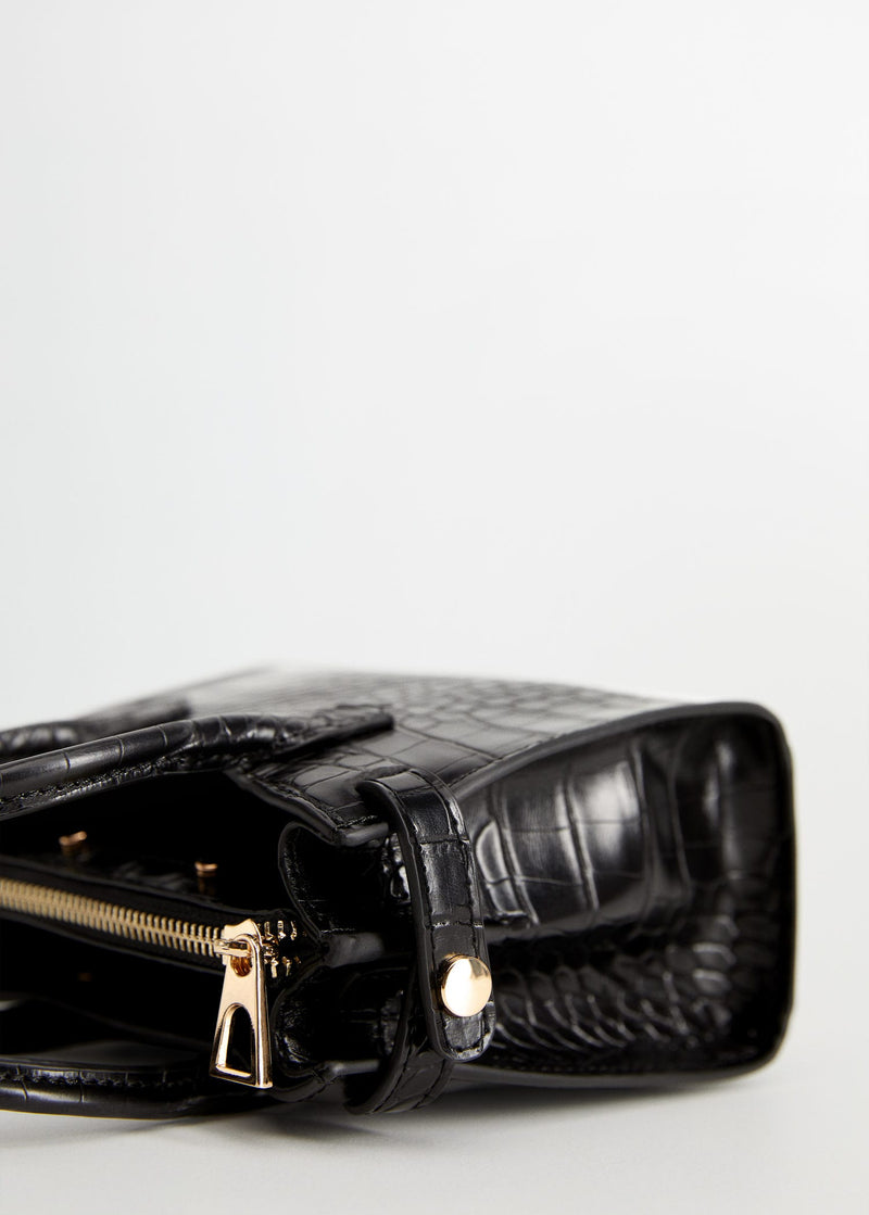 Croc-effect mini bag