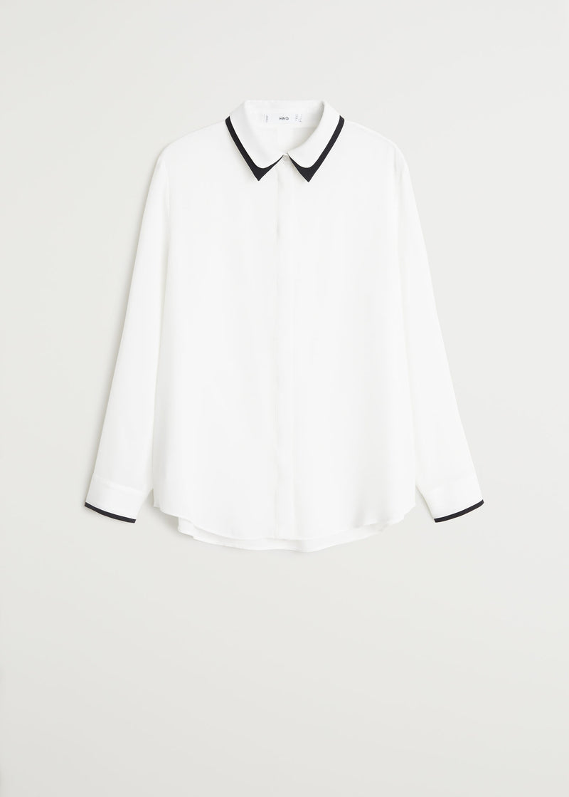 Contrasting finish blouse
