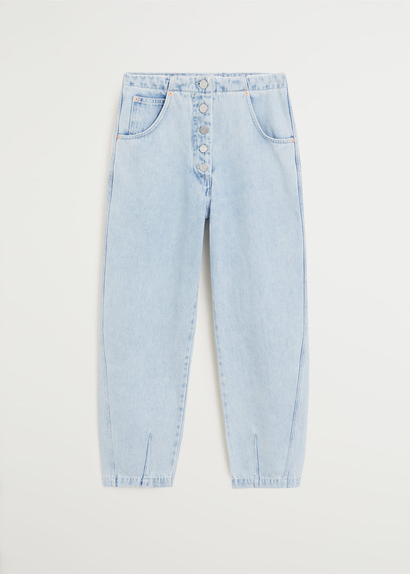 Straight-fit light wash jeans